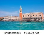 doge's palace and campanile on...