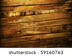 Grunge Wooden Fence With Rusty...