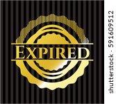 expired gold badge | Shutterstock .eps vector #591609512