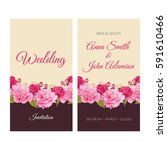 wedding invitation  thank you... | Shutterstock .eps vector #591610466