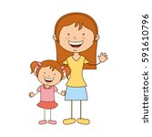 happy family members icon | Shutterstock .eps vector #591610796