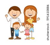 happy family members icon | Shutterstock .eps vector #591610886