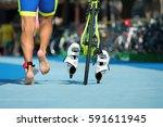 triathlete running with your...   Shutterstock . vector #591611945