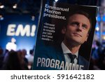paris  france   march 2  2017   ... | Shutterstock . vector #591642182