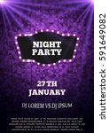 night party flyer template.... | Shutterstock .eps vector #591649082