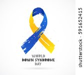 world down syndrome day.... | Shutterstock .eps vector #591652415