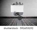 digital composition of robot... | Shutterstock . vector #591653192