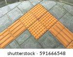 braille block tactile paving... | Shutterstock . vector #591666548