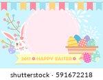 cartoon happy easter great for... | Shutterstock . vector #591672218