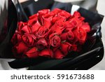 beautiful red rose for... | Shutterstock . vector #591673688