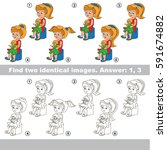 the educational kid matching... | Shutterstock .eps vector #591674882