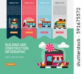 infographic building and... | Shutterstock .eps vector #591675572