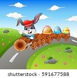 vector illustration of happy... | Shutterstock .eps vector #591677588