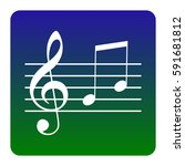 music violin clef sign. g clef... | Shutterstock .eps vector #591681812