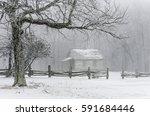 winter scenic  one room... | Shutterstock . vector #591684446