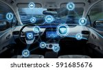 intelligent vehicle cockpit and ... | Shutterstock . vector #591685676