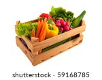 wooden crate with a diversity... | Shutterstock . vector #59168785