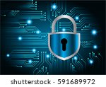 safety concept  closed padlock... | Shutterstock .eps vector #591689972