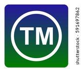 trade mark sign. vector. white... | Shutterstock .eps vector #591697862
