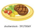 steak with vegetables | Shutterstock .eps vector #59170069