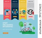 infographic sport and awards | Shutterstock .eps vector #591715622