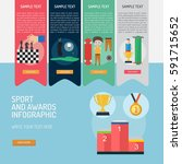 infographic sport and awards | Shutterstock .eps vector #591715652