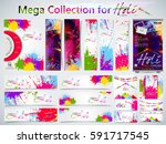 mega collection of beautiful... | Shutterstock .eps vector #591717545