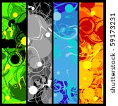 Four Background Panels With...