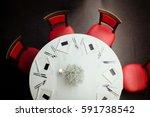 restaurant round table covered... | Shutterstock . vector #591738542