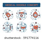 doodle vector illustrations of...   Shutterstock .eps vector #591774116