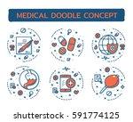 doodle vector illustrations of... | Shutterstock .eps vector #591774125