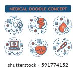 doodle vector illustrations of...   Shutterstock .eps vector #591774152