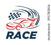 race car logo | Shutterstock .eps vector #591782816