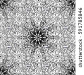 seamless damask pattern... | Shutterstock .eps vector #591785846