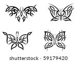isolated tattoos of butterfly... | Shutterstock .eps vector #59179420