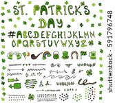 st. patrick's day hand drawing...   Shutterstock .eps vector #591796748