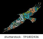 eagle shape vector design... | Shutterstock .eps vector #591802436
