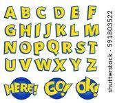 alphabet letter written in a... | Shutterstock . vector #591803522