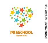 preschool  kindergarten ... | Shutterstock .eps vector #591805718