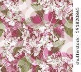 spring flowers seamless pattern.... | Shutterstock . vector #591820865
