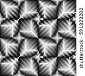 seamless 3d cube pattern.... | Shutterstock .eps vector #591823202
