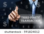 business man pointing his hand... | Shutterstock . vector #591824012