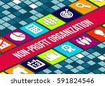 non profit organization ... | Shutterstock . vector #591824546