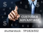 business man pointing his hand... | Shutterstock . vector #591826502