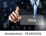 business man pointing his hand... | Shutterstock . vector #591826526