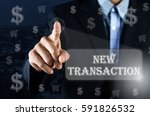 business man pointing his hand... | Shutterstock . vector #591826532
