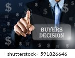 business man pointing his hand... | Shutterstock . vector #591826646