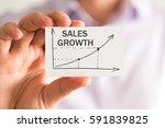 closeup on businessman holding... | Shutterstock . vector #591839825