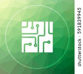 circuit board icon. circuit... | Shutterstock . vector #591839945