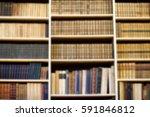 blurred background bookshelf... | Shutterstock . vector #591846812